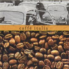 PAQUETE 20 TOALLAS PAPEL CAFE ITALIE GRAINS.20 PAPEL SERVILLETAS COFFEE ITALIA