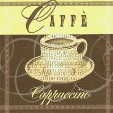 PAQUETE 20 TOALLAS PAPEL CAFE CAPPUCCINO.PACK 20 PAPEL SERVILLETAS COFFEE