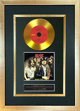 #150 GOLD DISC ACDC Highway to Hell Album CD Signed Autograph Mounted Repro A4
