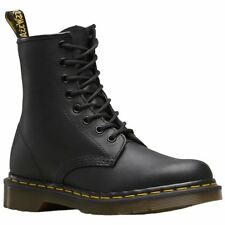 Dr.Martens 1460 8-Eyelet Black Mens Greasy Leather Lace-up Combat Boots