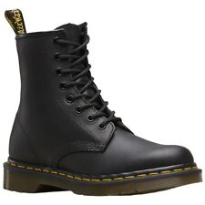Dr.Martens 1460 8-Eyelet Black Womens Greasy Leather Lace-up Combat Boots