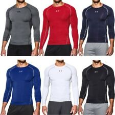 Under Armour Ua Heatgear Manga Larga Correr Gimnasio Capa De Base De Compresión
