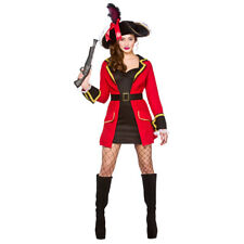 Adults Ladies Blackheart Pirate Costume for Captain Pirate Sea Fancy Dress