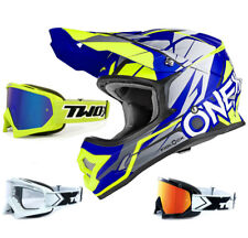 ONEAL 3Series CASCO Freerider Fidlock BLU GIALLO FLUO TWO-X OCCHIALI RACING