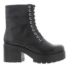 Vagabond Dioon Womens Black Leather Chunky Platform Zip Ankle Boots Size UK 3-8