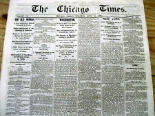 Lot of 3 1870-1871 CHICAGO TIMES Illinois newspapers   Before GREAT CHICAGO FIRE