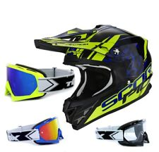SCORPION VX-15 EVO AIR MX Casco da cross kistune NERO incl. TWO-X RACE OCCHIALI