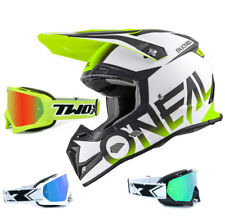 Oneal 5Series Casco da cross blocco GIALLO FLUO TWO-X RACE MX OCCHIALI