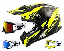 SCORPION VX-15 EVO Casco MX KRUSH NERO GIALLO FLUO incl. TWO-X