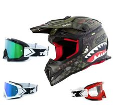 Oneal 5Series Casco da cross Warhawk Grigio TWO-X RACE OCCHIALI ENDURO MX