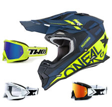 Oneal 2Series Rl Casco da Cross Spyde Nero Giallo con TWO-X Gara da Mx Motocross