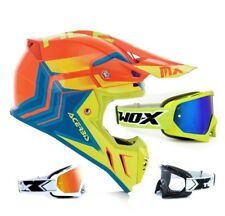 Acerbis Casco Cross Snapdragon Perfil 3.0 Naranja Neón Amarillo Two-X