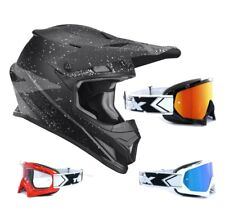 THOR SECTOR Hype Enduro CASCO CROSS Motocross Negro Gris two-x Carrera Gafas