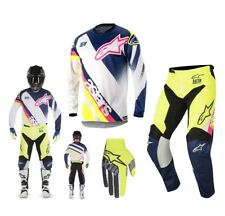 Alpinestars Carrera Supermatic Enduro COMBO 2018 blanco azul amarillo