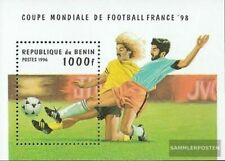 bénin Bloc 15 neuf avec gomme originale 1996 Football-WM ´98, France