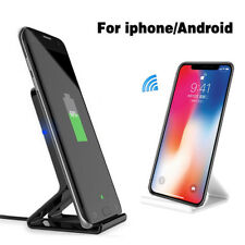 Qi Wireless Charger Charging Pad Stand Dock for Samsung S8 S9 iPhone 7 8 X Plus