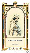 SANTINO HOLY CARD TELA CANVAS BEATO DOMENICO DOSSO MERCEDARIO