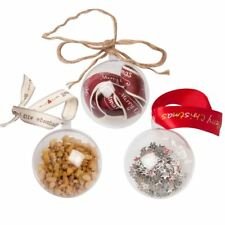 Clear Plastic Bauble Craft Ball Acrylic Transparent Sphere (choose pack size)