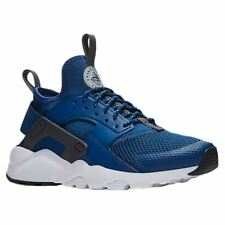 Nike Air Huarache Run Ultra GS Gym Blue Wolf Grey Youth Mesh Low-top Trainers