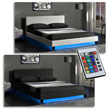 """ Goa "" Upholstered Bed Luxury Double Bed with LED Undercar Lighting Incl"