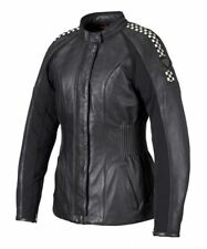 LADIES LEATHER TRIUMPH CAFE RACER MOTORCYCLE JACKET WAS £275 NOW £95