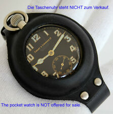 Bracelet en cuir & ETUI pour montre de poche compatible MOSER RECORD etc. Table