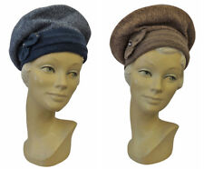 New Ladies Retro 1930's 30s  1940's 40s WW2 Wartime Soft Knit Halo Beret Hat