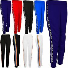Women Ladies Excercise BeJealous Gymming Cuffed Hem Sports Ribbed Jogger Bottom