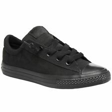 Converse Chuck Taylor All Star Street Slip Black Youth Canvas Trainers
