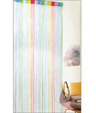 Rainbow Colourful String Door Fly Bug Screen Divider Fringe Curtain Voile Panel