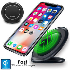 Fast Qi Wireless Charger Stand Charging Dock Pad For Apple iPhone X 10 8 Plus