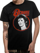 *Licensed Official Merchandise* DAVID BOWIE- ZIGGY FACE- T SHIRT BLACK