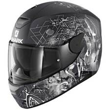 Shark D-skwal Anyah Mat Black / White / Anthracite , Cascos Shark , moto