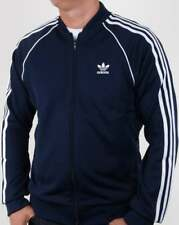 Adidas Superstar Track Top in Navy & White - retro 3 stripe tracksuit jacket