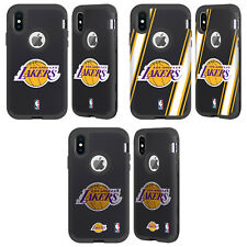 NBA LOS ANGELES LAKERS 2 BLACK SENTRY CASE FOR APPLE iPHONE SAMSUNG PHONES