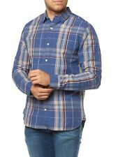 NUEVO Camisa Tommy Hilfiger hombre freizeit-fitted Azul dm0dm01590 Azul Hombre