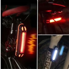 USB Rechargeable Bike LED Tail Light Bicycle Safety Cycling Warning Rear Lamp HS