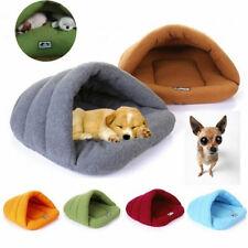 Pet Cat Dog Nest Bed Soft Warm Cave House Sleeping Bag Mat Pad XS/S/M/L