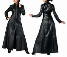 LEATHER WOMEN CATSUIT MATRIX COAT WITH CUFFS HOT DOMINA