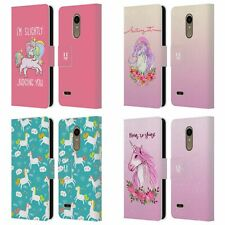 HEAD CASE DESIGNS SASSY UNICORNS LEATHER BOOK WALLET CASE COVER FOR LG PHONES 1