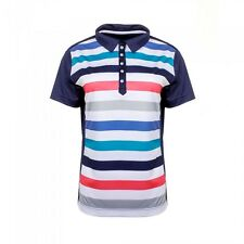 JRB Moisture Wicking Golf Polo Shirt Navy/Blue/Grey/Coral Striped S, M, L New