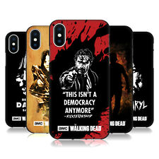 OFFICIAL AMC THE WALKING DEAD TYPOGRAPHY BLACK GEL CASE FOR APPLE iPHONE PHONES
