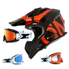 Oneal 2series RL CASCO CROSS MANCHA Naranja Negro two-x Carrera Gafas Mx