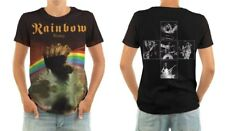 RAINBOW - RAINBOW RISING - FRONT & BACK PRINT LP COVER POLY/COTTON T-SHIRT