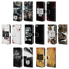 OFFICIAL AMC THE WALKING DEAD LOGO LEATHER BOOK CASE FOR APPLE iPOD TOUCH MP3