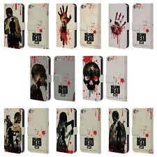 AMC THE WALKING DEAD SILHOUETTES LEATHER BOOK CASE FOR APPLE iPOD TOUCH MP3