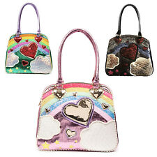 Irregular Choice Over The Rainbow Purpurina Estrella Corazón Raro Unique Bolso