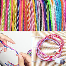 10x Spring Protector Cover Cable Line  DIY For Phone USB Data Sync Charging FG