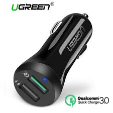 Ugreen Car USB Quick Charge 3.0 Charger for Mobile Phone 2 Ports Universal