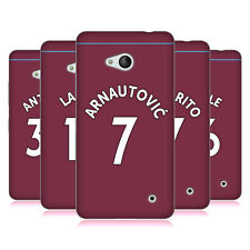 WEST HAM UNITED FC 2018/19 PLAYERS HOME KIT 1 CASE IN GEL PER MICROSOFT TELEFONI